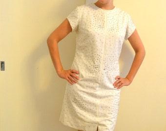 60s Lady Elvis Custom Made Shift Mini Dress With Diamond Rhinestones