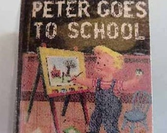 Children's Book Peter Goes to School - dollhouse miniature 1:12 scale