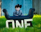 Extra Large Sparkly Glitter GOLD ONE letters - First Birthday - Baby Girl Birthday - Photo Prop