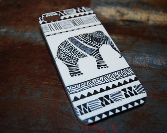 Africa Rustic Elephant Phone Case For Apple iPhone 6 Plus / 6 / 5c / 5s / 5 / 4s 4 Hard Plastic Africa Indian India Primitive Cell Case c55
