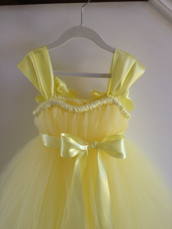 Soft yellow tutu dress NB-12 girls