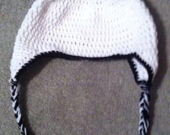 Child/teen panda ear flap hat