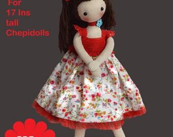 ADDITION PATTERN Crochet  Doll  Dress  Pattern