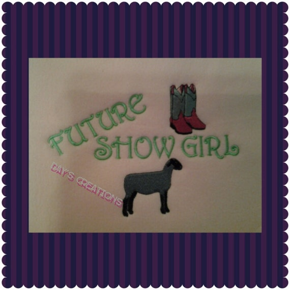Cute youth lamb sweatshirt Future show girl with boots and lamb