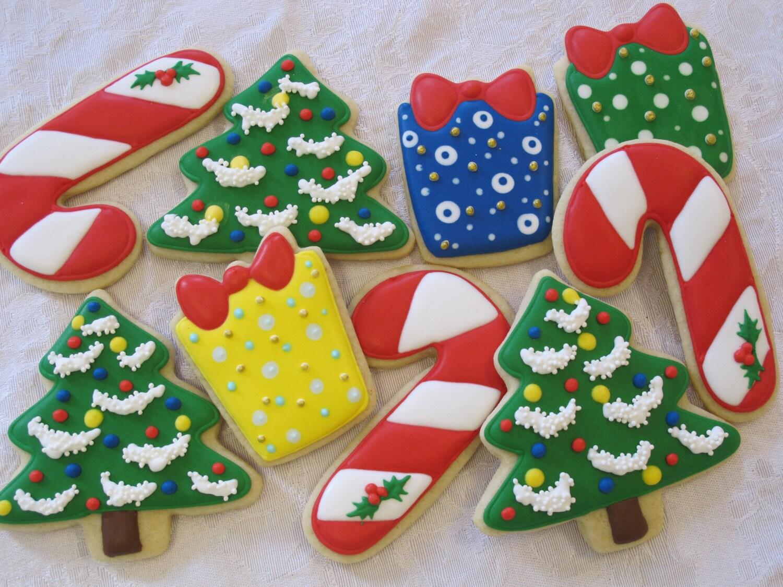 Christmas Cookies Set 4 Christmas Cookies Favors By