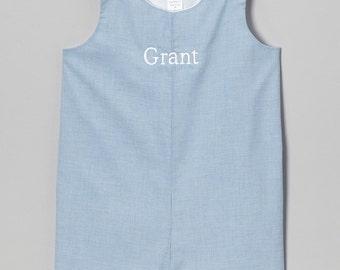Boys Shortall Jon Jon Williamsburg Blue Monogram Peronalize Outfit