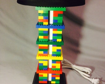 LEGO® Lamp - Multicolored Rainbow Column Lamp