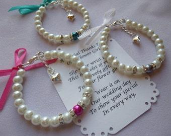 Flower Girl Bracelet, Flower Girl Gift, Flower Girl Jewelry, Pearl Flower Girl Bracelet, Kids Bracelet, Childrens Bracelet, Girls Bracelet