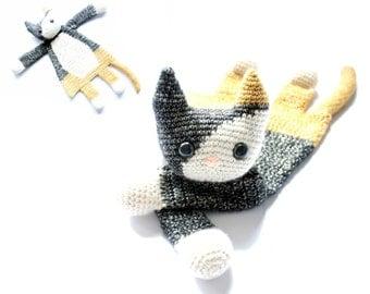 Calico Cat Ragdoll crochet amigurumi pattern PDF INSTANT DOWNLOAD
