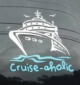 Cruise Aholic Vinyl Car Decal Sticker