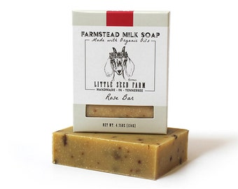 Rose Bar - Handmade, Organic, Goat's Milk Soap
