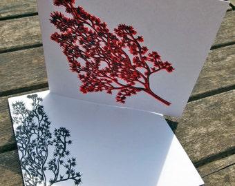 Hand Screen Printed Greetings Card Kelp Design