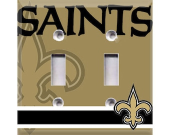 New Orleans Saints Double Light Switch Cover
