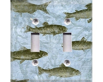 Nature Lover Collection - Fish Double Light Switch Cover