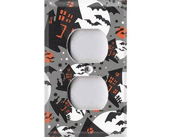 Halloween Haunted House Pattern Outlet Cover