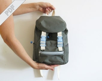 Sewing tutorial with pattern for kids backpack No. 2 Outdoor daypack rucksack, MYOG