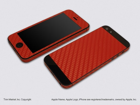 for apple iphone 5 model a1428 a1429 red carbon fiber. Black Bedroom Furniture Sets. Home Design Ideas