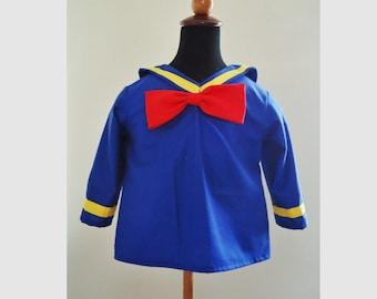 Donald Duck Top - Donald Duck Costume - Disney Birthday Costume - 12M to 7Years