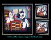 """12"""" x 12"""" Rarity and Sweetie Belle"""