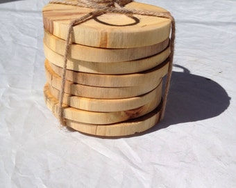 Aspen wood coasters - loose