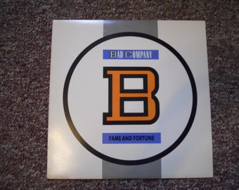 Bad Company Fame and Fortune Vinyl Record LP