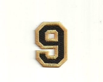 Varsity Number Patch, any color combo, Small Custom Made! LET1