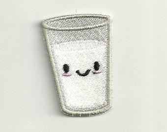 Tiny Smiling Milk Patch! Custom Made! F4