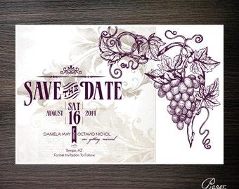 Vintage Wine Save the Dates - Digital