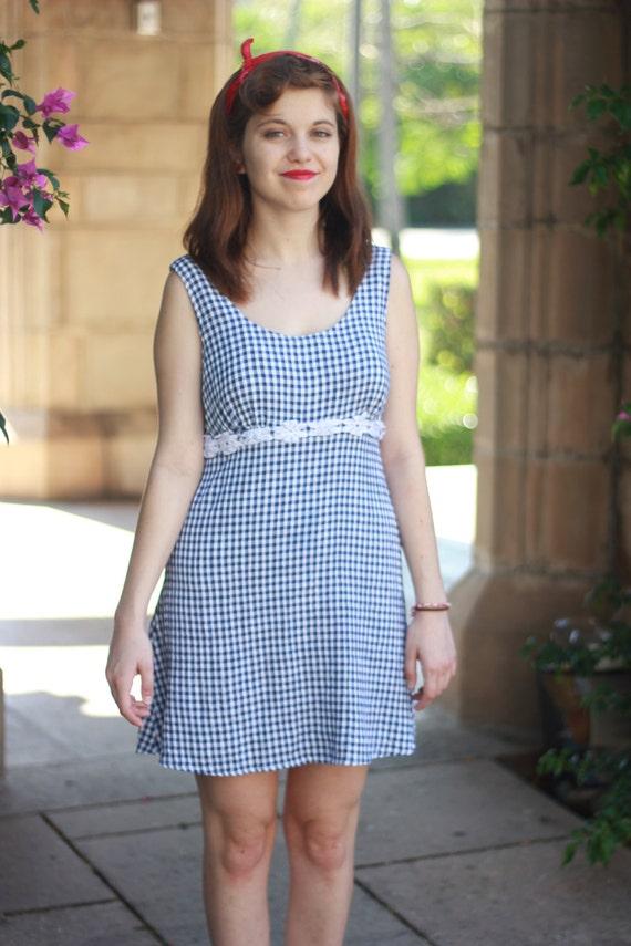 Blue Checkered Dress Checkered Plaid Dress