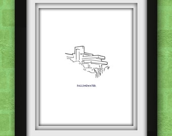 Fallingwater Minimalist Print