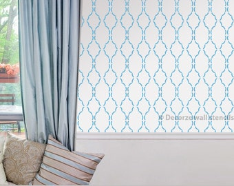 Moroccan  pattern wall stencils, Easy decorative DIY wall stencil, Moroccan pattern stencil