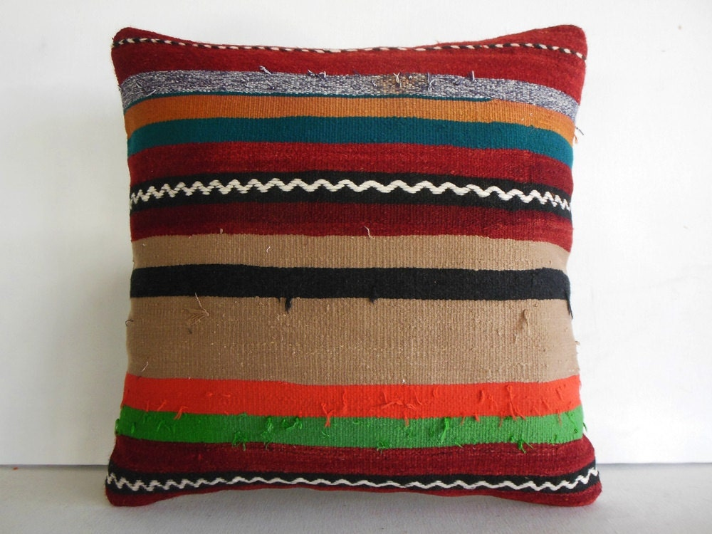 Oversized Decorative Pillow : Extra Large Pillow Cover Large Throw Pillow Large Kilim Pillow