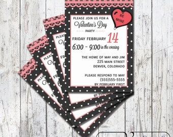 Printable Valentine's Day Invitation - Be Mine