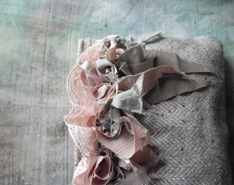raggy roses-art bag,shabby,vintage look