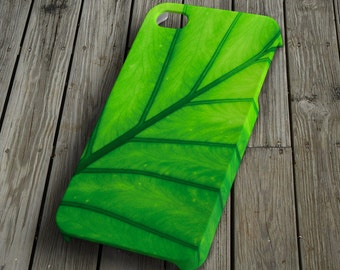 Plant leaf iPhone 4/4S Case iPhone 5 Cover Plastic iPhone 4/4S/5 Case unique green