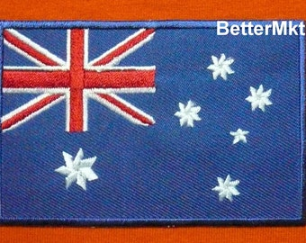 Australia Australian Flag Embroidered Applique Sewing Iron On Patch