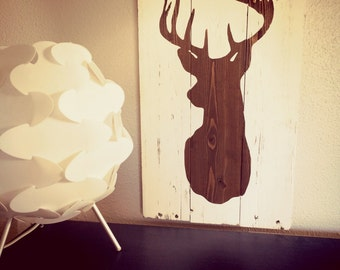 Rustic Whitetail Deer Silhouette