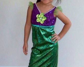 Little mermaid Ariel dress