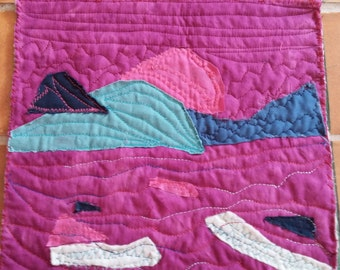 Abstract Landscape Quilt by Gloria Moses