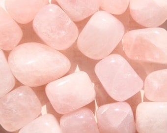ROSE QUARTZ (Grade A Natural) Tumbled Polished Stones Gemstone Rocks for Healing, Yoga, Meditation, Reiki, Crafts, Jewelry Supplies