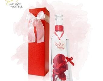 """Message In A Bottle """"KISSES"""" Personalized Gift for Her"""