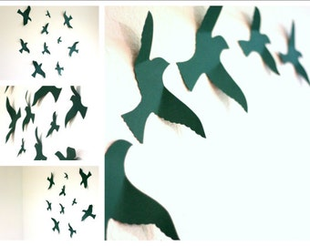 Bird wall decal, Bird Wall Art, wall art for nursery, Wall Hanging, Paper Birds, bird wall decor