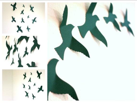 Wall Art 3 Line Of Birds : Items similar to bird wall decal art