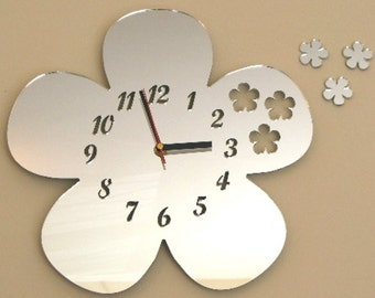 Daisies out of Daisy Clock Mirror - 2 Sizes Available
