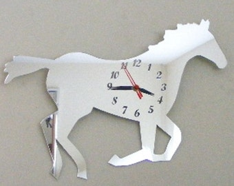 Horse Trotting Clock Mirror - 2 Sizes Available