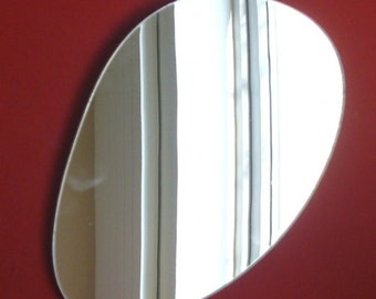 Long Pebble Shaped Mirror - 3 Sizes Available