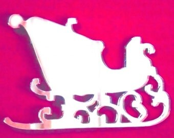 Santa's Sledge Christmas Mirror - 5 Sizes Available