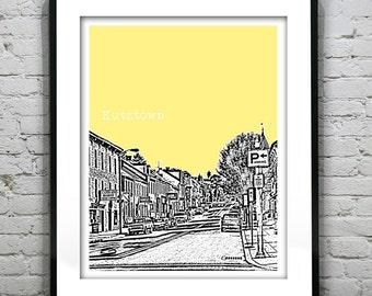 Kutztown Pennsylvania Skyline Poster Art Print PA Version 1