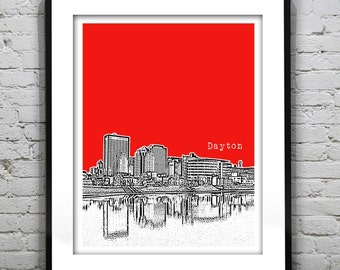 Dayton Ohio Poster Print Art City Skyline OH