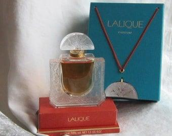 Vintage Lalique Perfume with Pendant